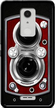 Vintage Camera Red Case for Alcatel A3 XL