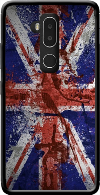 Silicone Alcatel A7 XL 7071D with pictures flag