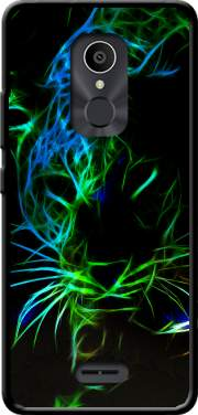 Abstract neon Leopard Case for Alcatel 3C
