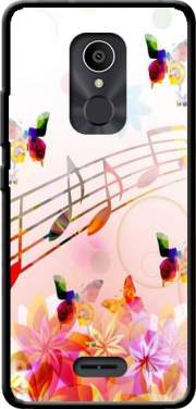 Musical Notes Butterflies Case for Alcatel 3C
