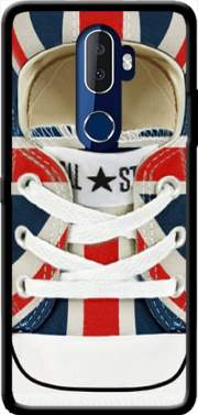 All Star Basket shoes Union Jack London Case for Alcatel 3V