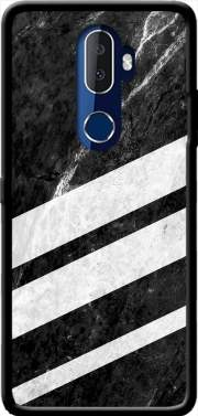 Black Striped Marble Alcatel 3V Case