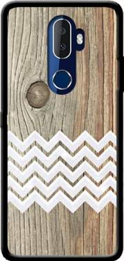 Chevron on wood Case for Alcatel 3V