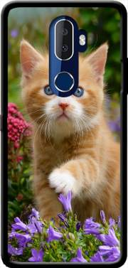 Cute ginger kitten in a flowery garden, lovely and enchanting cat Case for Alcatel 3V