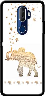 Gatsby Gold Glitter Elephant Case for Alcatel 3V