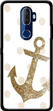 Glitter Anchor and dots in gold Case for Alcatel 3V