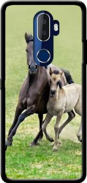 Horses, wild Duelmener ponies, mare and foal Case for Alcatel 3V