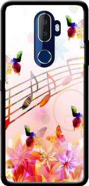 Musical Notes Butterflies Case for Alcatel 3V