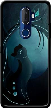 Sensual Cat in the Moonlight  Case for Alcatel 3V