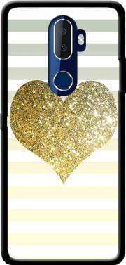Sunny Gold Glitter Heart Case for Alcatel 3V