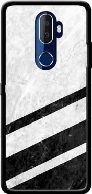 White Striped Marble Alcatel 3V Case