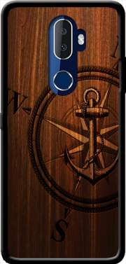 Wooden Anchor Case for Alcatel 3V