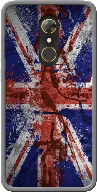 Silicone Alcatel A7 with pictures flag