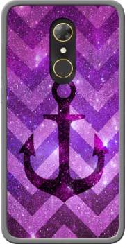 Anchor Chevron Purple Case for Alcatel A7