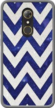 Chevron silver in night galaxy Case for Alcatel A7