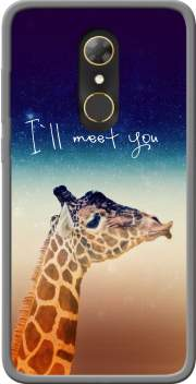 Giraffe Love - Left Case for Alcatel A7