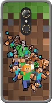 Minecraft Creeper Forest Case for Alcatel A7