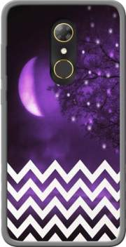 Purple moon chevron Case for Alcatel A7