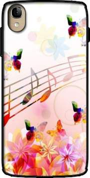 Musical Notes Butterflies Case for Alcatel One Touch Idol 3 4.7