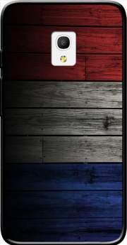"Wooden French Flag Case for Alcatel Pixi 4 (5"") 4G 5045D"
