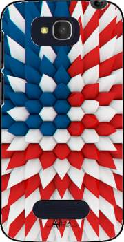 3D Poly USA flag Case for Alcatel One Touch Pop C7