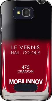 Nail Polish 475 DRAGON Case for Alcatel One Touch Pop C7