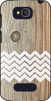 Chevron on wood Case for Alcatel One Touch Pop C7
