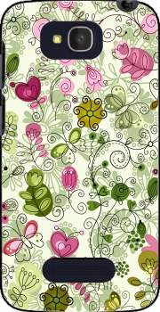 doodle flowers Case for Alcatel One Touch Pop C7