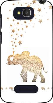 Gatsby Gold Glitter Elephant Case for Alcatel One Touch Pop C7