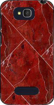 Minimal Marble Red Case for Alcatel One Touch Pop C7