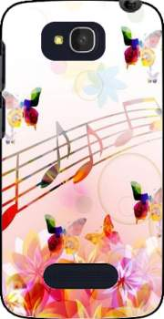 Musical Notes Butterflies Case for Alcatel One Touch Pop C7