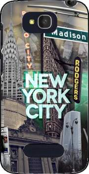 New York City II [green] Case for Alcatel One Touch Pop C7