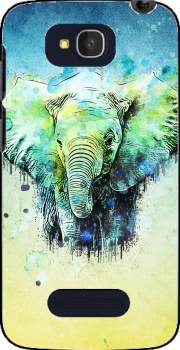 watercolor elephant Case for Alcatel One Touch Pop C7