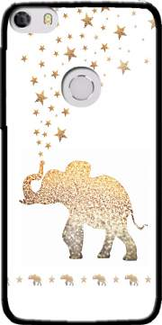 Gatsby Gold Glitter Elephant Case for Alcatel Idol 5