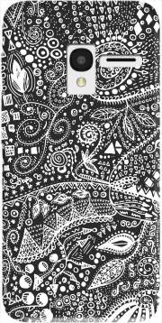 Aztec B&W (Handmade) Case for Alcatel Pixi 3 4.5 3G 4027X