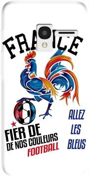 France Football Coq Sportif Fier de nos couleurs Allez les bleus Case for Alcatel Pixi 3 4.5 3G 4027X