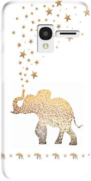 Gatsby Gold Glitter Elephant Case for Alcatel Pixi 3 4.5 3G 4027X
