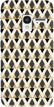 Glitter Triangles in Gold Black And Nude Case for Alcatel Pixi 3 4.5 3G 4027X