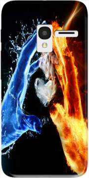 Love duet Ice and Flame Case for Alcatel Pixi 3 4.5 3G 4027X