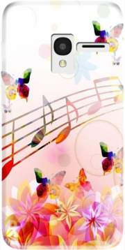 Musical Notes Butterflies Case for Alcatel Pixi 3 4.5 3G 4027X