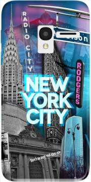 New York City II [blue] Case for Alcatel Pixi 3 4.5 3G 4027X