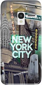 New York City II [green] Case for Alcatel Pixi 3 4.5 3G 4027X