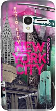 New York City II [pink] Case for Alcatel Pixi 3 4.5 3G 4027X