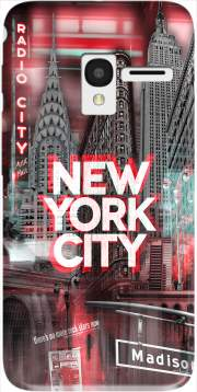 New York City II [red] Case for Alcatel Pixi 3 4.5 3G 4027X