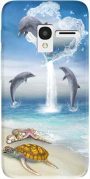 The Heart Of The Dolphins Case for Alcatel Pixi 3 4.5 3G 4027X