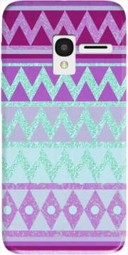 Tribal Chevron in pink and mint glitter Case for Alcatel Pixi 3 4.5 3G 4027X