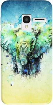 watercolor elephant Case for Alcatel Pixi 3 4.5 3G 4027X