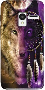 Wolf Dreamcatcher Alcatel Pixi 3 4.5 3G 4027X Case
