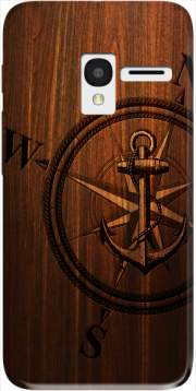 Wooden Anchor Case for Alcatel Pixi 3 4.5 3G 4027X