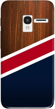 Wooden New England Case for Alcatel Pixi 3 4.5 3G 4027X